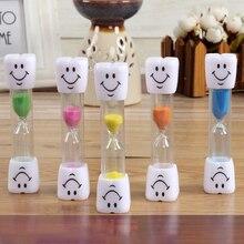 Улыбающееся лицо песочные часы Дети таймер для зубной щетки Песок Часы Таймер для варки яиц 3 минуты/5 минут для чая кафе напоминание