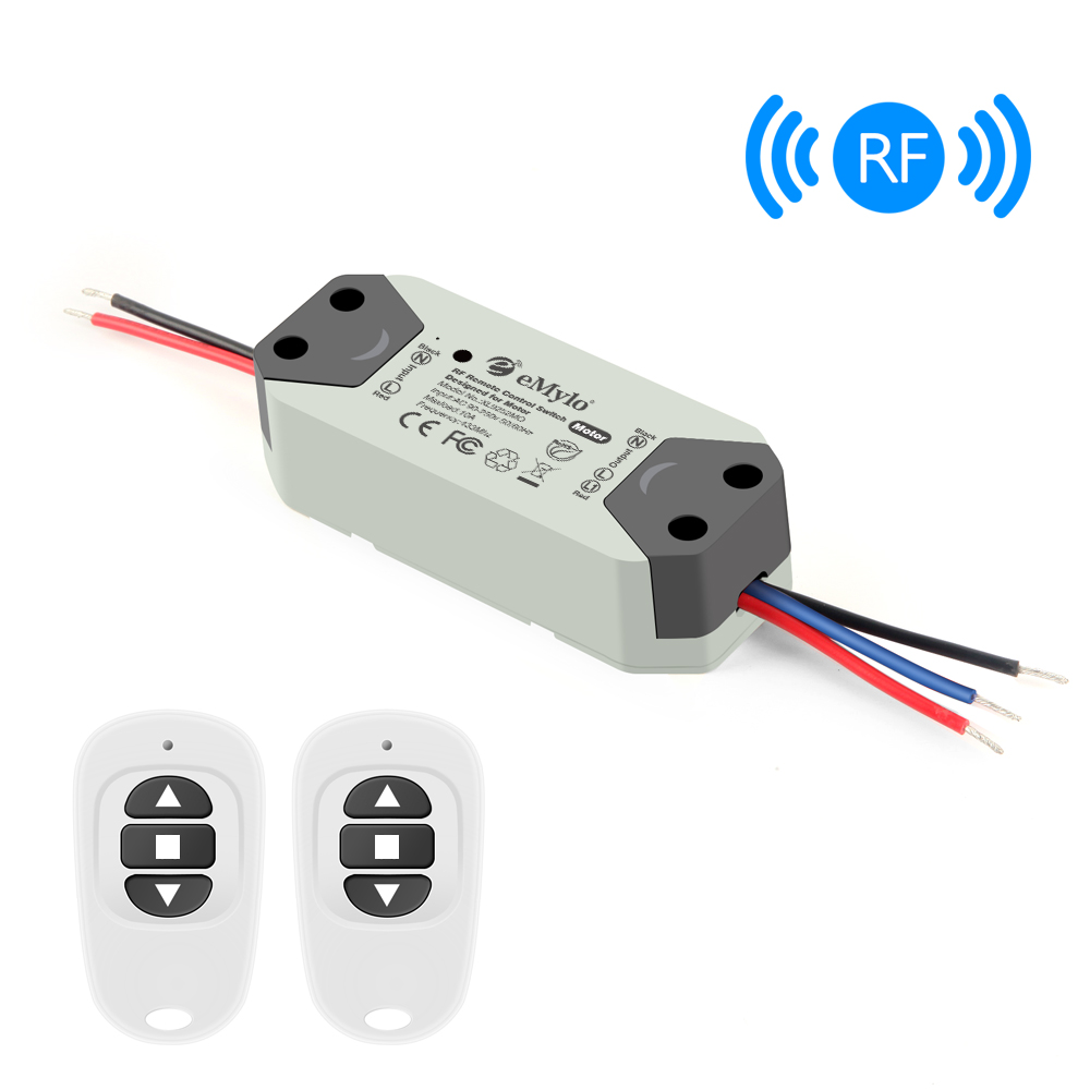 Emylo Rf Wireless Switch Motor Controller Dc 220v 433mhz 300w Remote Control Switch Relay Module For Rolling Door/Water Pump 1pc