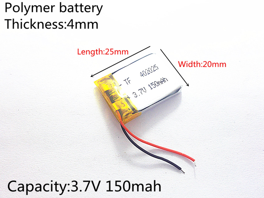 3.7V 150mAh 402025 Lithium Polymer Li-Po li ion Rechargeable Battery cells For Mp3 MP4 MP5 GPS PSP mobile bluetooth 3 7v 500mah 502535 lithium polymer li po li ion rechargeable battery cells for mp3 mp4 mp5 gps psp mobile bluetooth