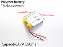 3.7V 150mAh 402025 Lithium Polymer Li-Po li ion Rechargeable Battery cells For Mp3 MP4 MP5 GPS PSP mobile bluetooth