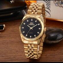Fashion Men's Watch Luxury Brand Gold Stainless Steel Quartz Watch Wrist Watches High Quality Wristwatch for men women цена