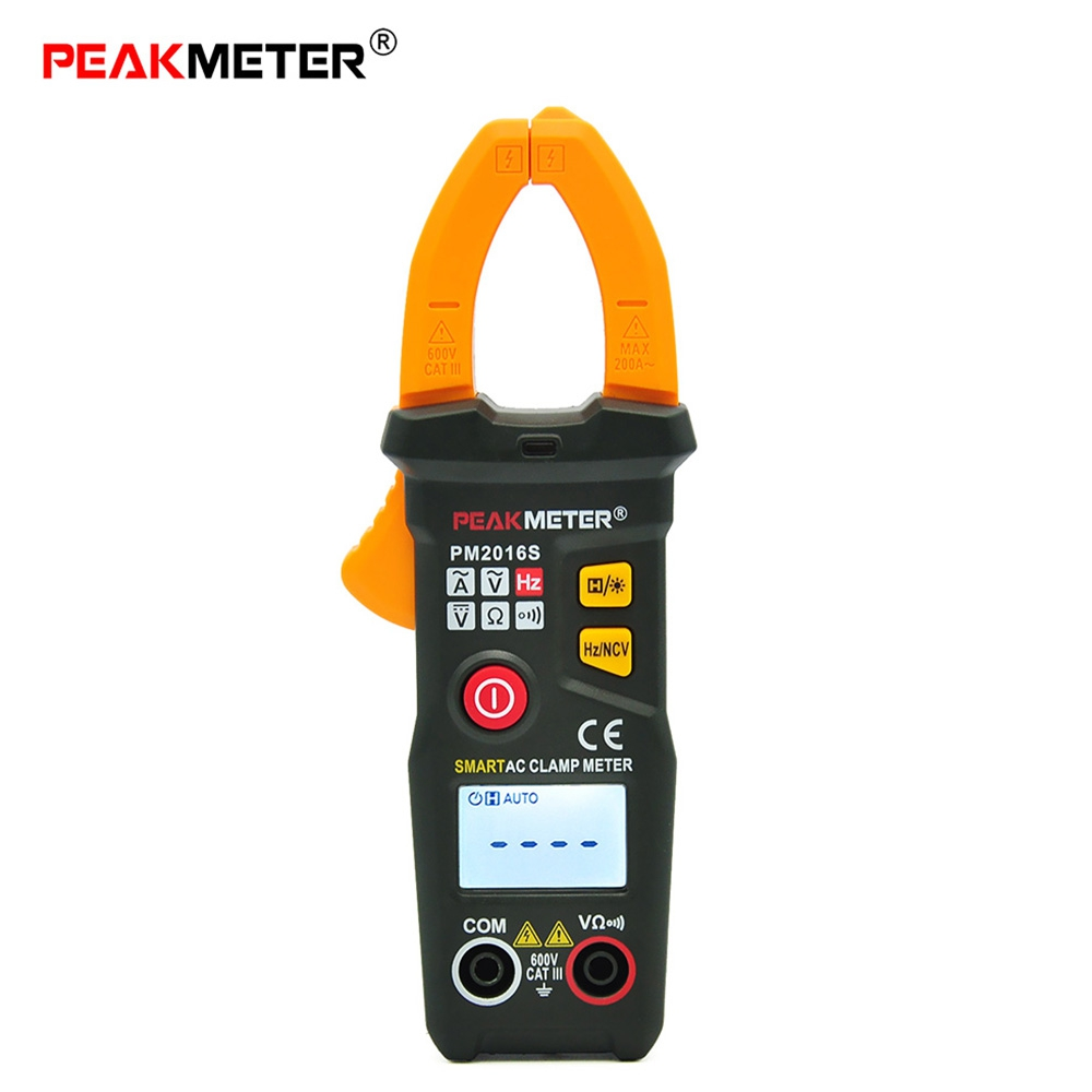 PEAKMETER PM2016S Digital Clamp Meter Multimeter AC / DC Voltage AC Current Resistance LCD 6000 Counts Precision Multi meter цена