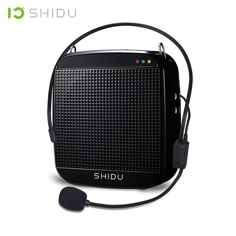 SHIDU Wired Portable Voice Amplifier USB Speaker Full Range Speakers Lautsprecher For Teachers Tour Guide Yoga