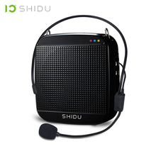 SHIDU Wired Portable Voice Amplifier USB Speaker Full Range Speakers Lautsprecher For Teachers Tour Guide Yoga Instructors S512 shidu ultra wireless portable uhf mini audio speaker usb lautsprecher voice amplifier for teachers tourrist yoga instructor s615