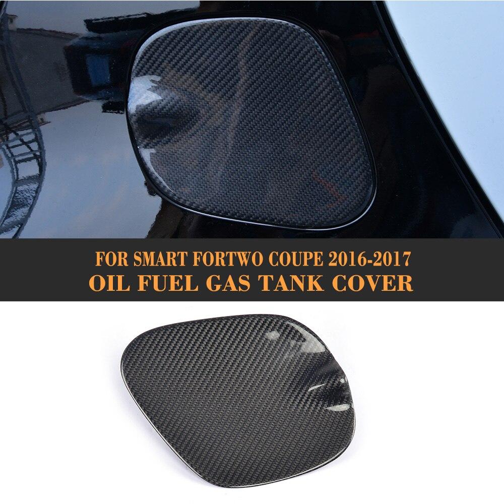Carbon fiber Oil Fuel Gas Tank Pad Cap cover for Mercedes benz Smart Fortwo Coupe 2 Door 2016 2017