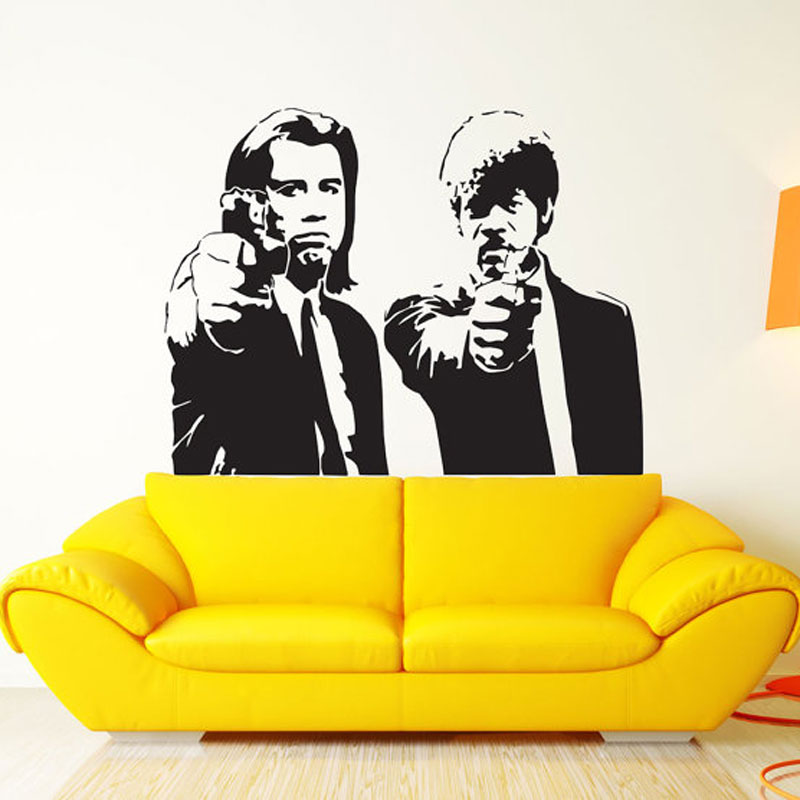 Pulp Fiction Movie Wall Art Decal Decor Print Sticker Vinyl Poster pulp fiction poster pulp fiction print quentin tarantino samu image