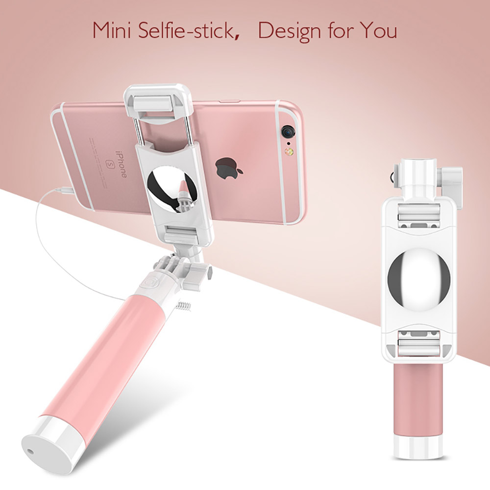 лучшая цена Fashion Wired Selfie Stick Candy Color Adjustable Monopod For iPhone 6 6S Plus 5 5S SE For Samsung Xiaomi Huawei LG Accessories