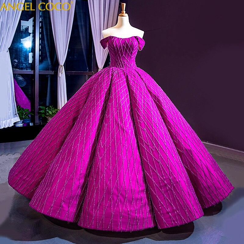 Purple Red Floor Length Evening Gowns Elegant Formal Sequins Long Maternity Dresses Satin Celebrity Formal Dresses Evening 2019