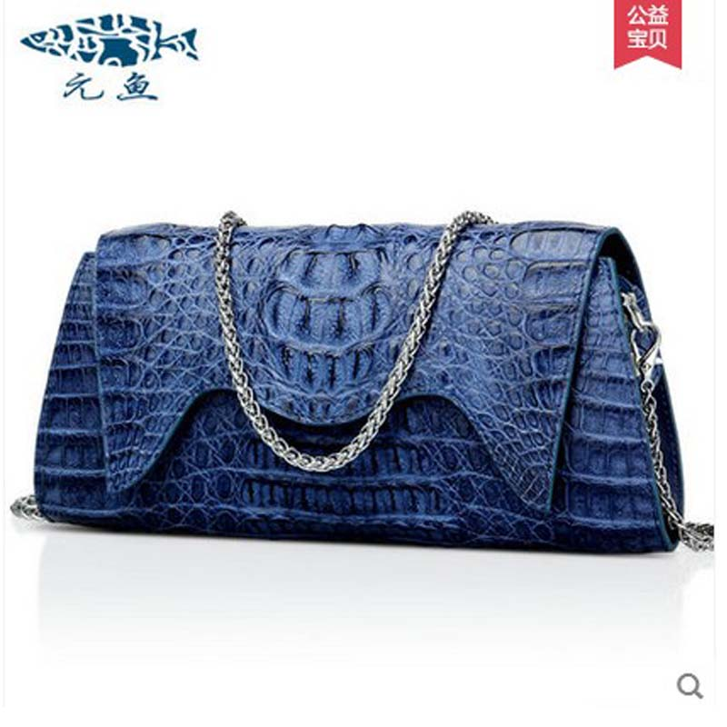yuanyu 2018 new hot free shipping crocodile leather fashion single shoulder inclined bag small bag hand caught women chain bag yuanyu real snake skin women bag new decorative pattern women chain bag fashion inclined single shoulder women bag
