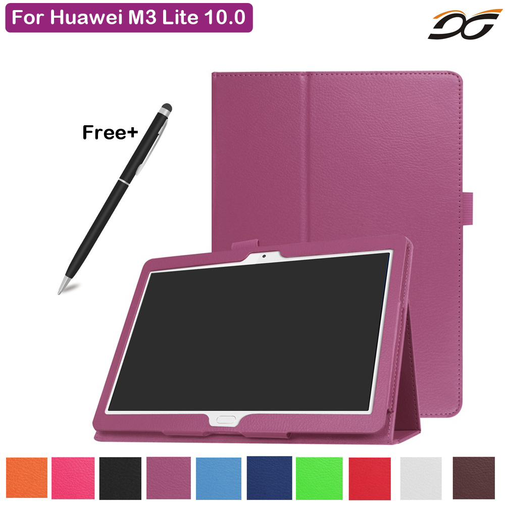 Case for Huawei MediaPad M3 Lite 10 Foilo Stand PU Leather Cover for Huawei MediaPad M3 Lite 10.0 BAH-W09 BAH-AL00 Tablet smart ultra stand cover case for 2017 huawei mediapad m3 lite 10 tablet for bah w09 bah al00 10 tablet free gift