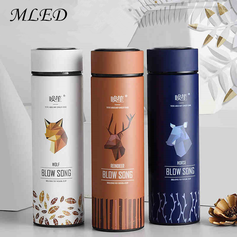 Fashion Thermos Water Bottle Creative Design Thermal Thermo Mug Insulated Vacuum Flasks Tea Milk Cup Tumbler