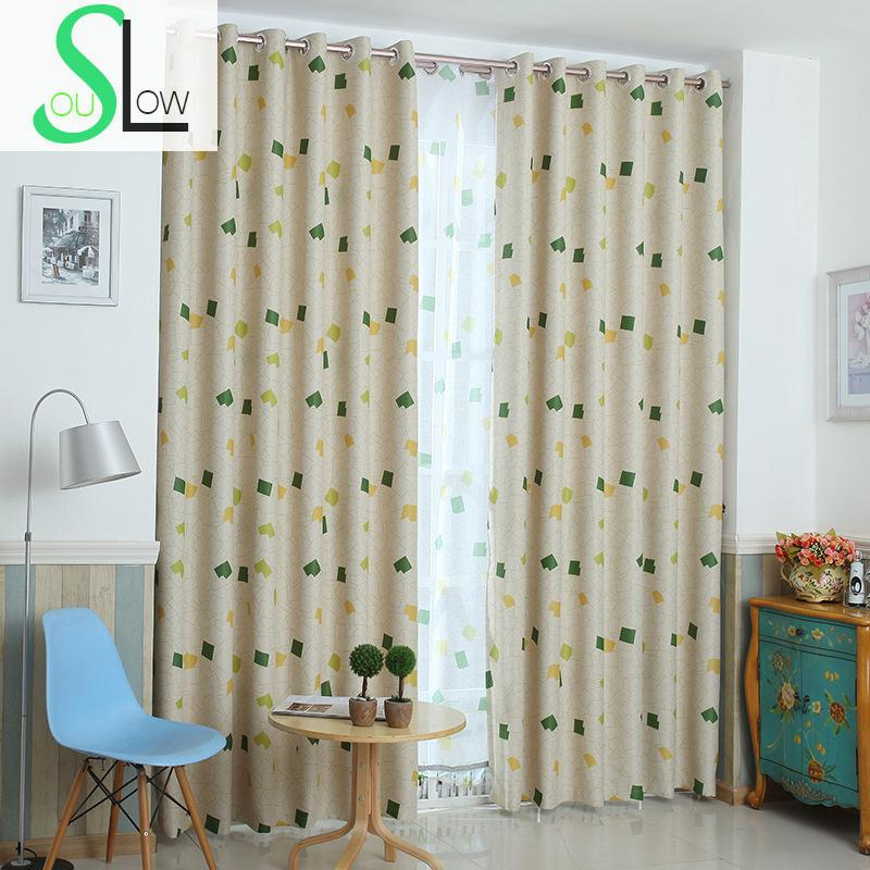 Slow Soul Green Living Room Bedroom Study Curtain Curtains Plaid Children Kids Small Kitchen For Tulle