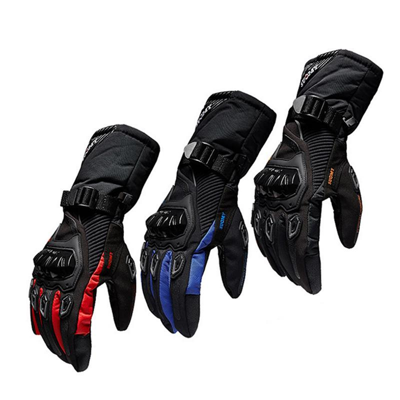 New Winter Motorcycle Gloves Waterproof And Warm Four Seasons Riding Motorcycle Rider Anti Fall Cross Country Gloves-in Gloves from Automobiles & Motorcycles