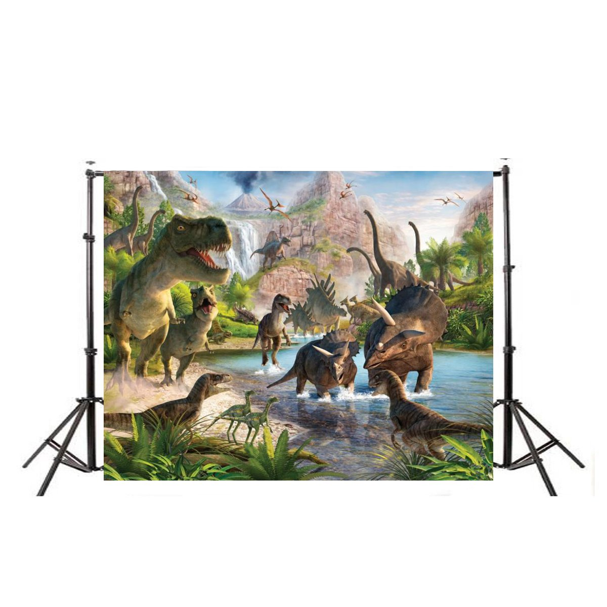 2018 New Arrival Dinosaur Vinyl Photography Backgrounds Studio Props Backdrops Decoration 7X5FT custom10ftx20ft vinyl studio photography digital props backgrounds e 3742 maple leaf backdrops cloth