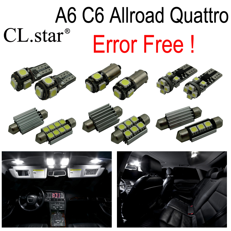 20pcs canbus error free Reading LED bulb interior dome light kit for Audi A6 Allroad Quattro (2006-2011)