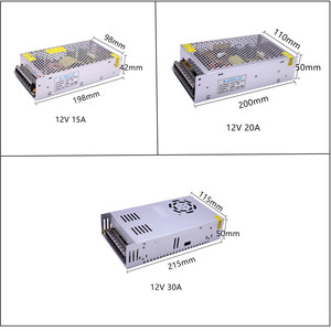 Image 3 - DC12V 1A 2A 3A 5A 8.5A 10A 15A 20A 30A الإضاءة المحولات LED سائق محول الطاقة للقطاع بقيادة مفتاح الإضاءة امدادات الطاقة