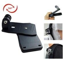 Sport Digital camera Equipment Rotary Backpack Clip Clamp Mount Holder for Gopro Hero4 Hero three+ four SJCAM SJ4000 SJ5000 SJ6000 Motion Cam