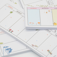 Kawaii sticky notes Cartoon memo pad weekly planner notepad Anime stickers scrapbooking stationery material escolar kawaii scrapbooking stickers sticky notes school office supplies memo pad page flags children favourite stationery material