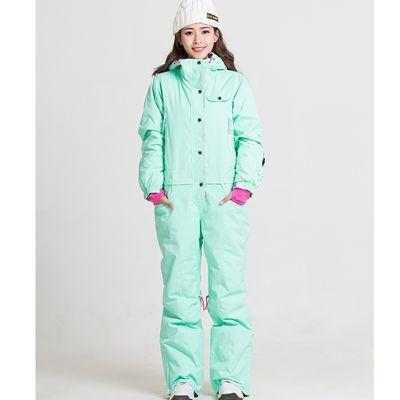 Синий волшебный зимний сноуборд kombez лыжная куртка и брюки лыжные костюмы женский комбинезон женский сноуборд водонепроницаемый комбинезон Россия - Цвет: green
