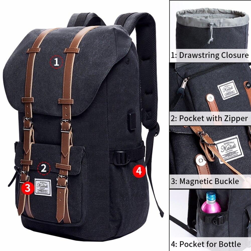 KALIDI bärväska ryggsäck 15,6 - 17,3 tums för män kvinnor rese - Laptop-tillbehör - Foto 2