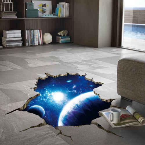 Się przestrzeń Galaxy planeta sypialnia Art Vinyl 3D naklejki ścienne naklejka wystrój pokoju wiele