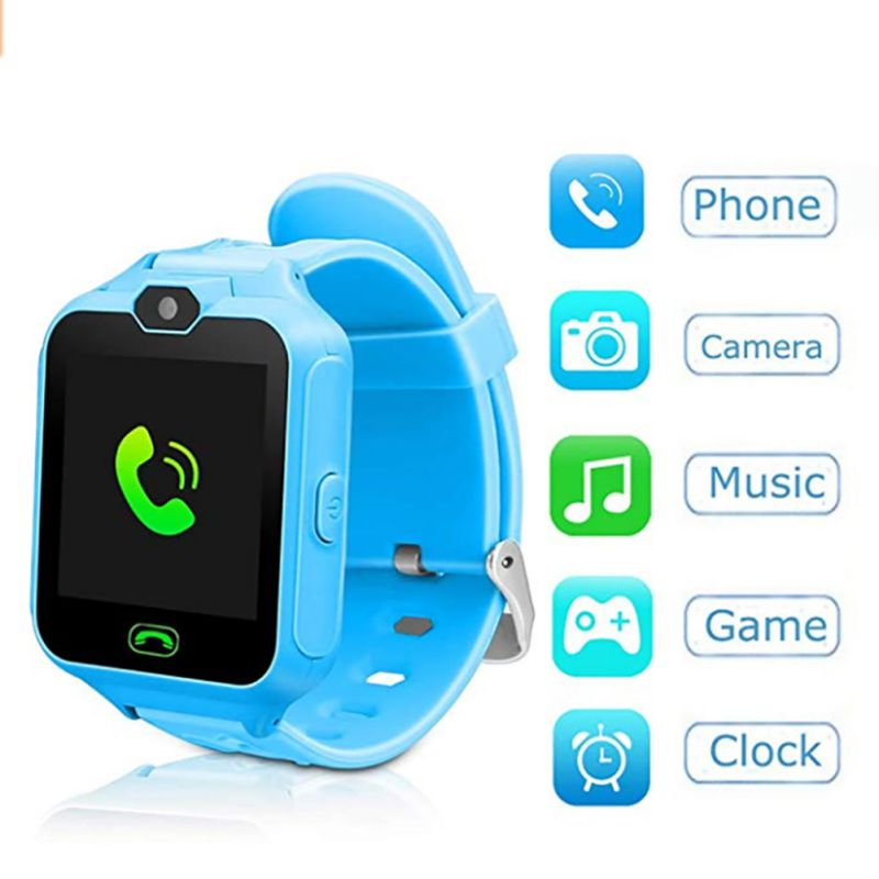 Children GPS Positioning Smart Phone Watch Life Waterproof Bluetooth Music Remote Camera For Android IOS