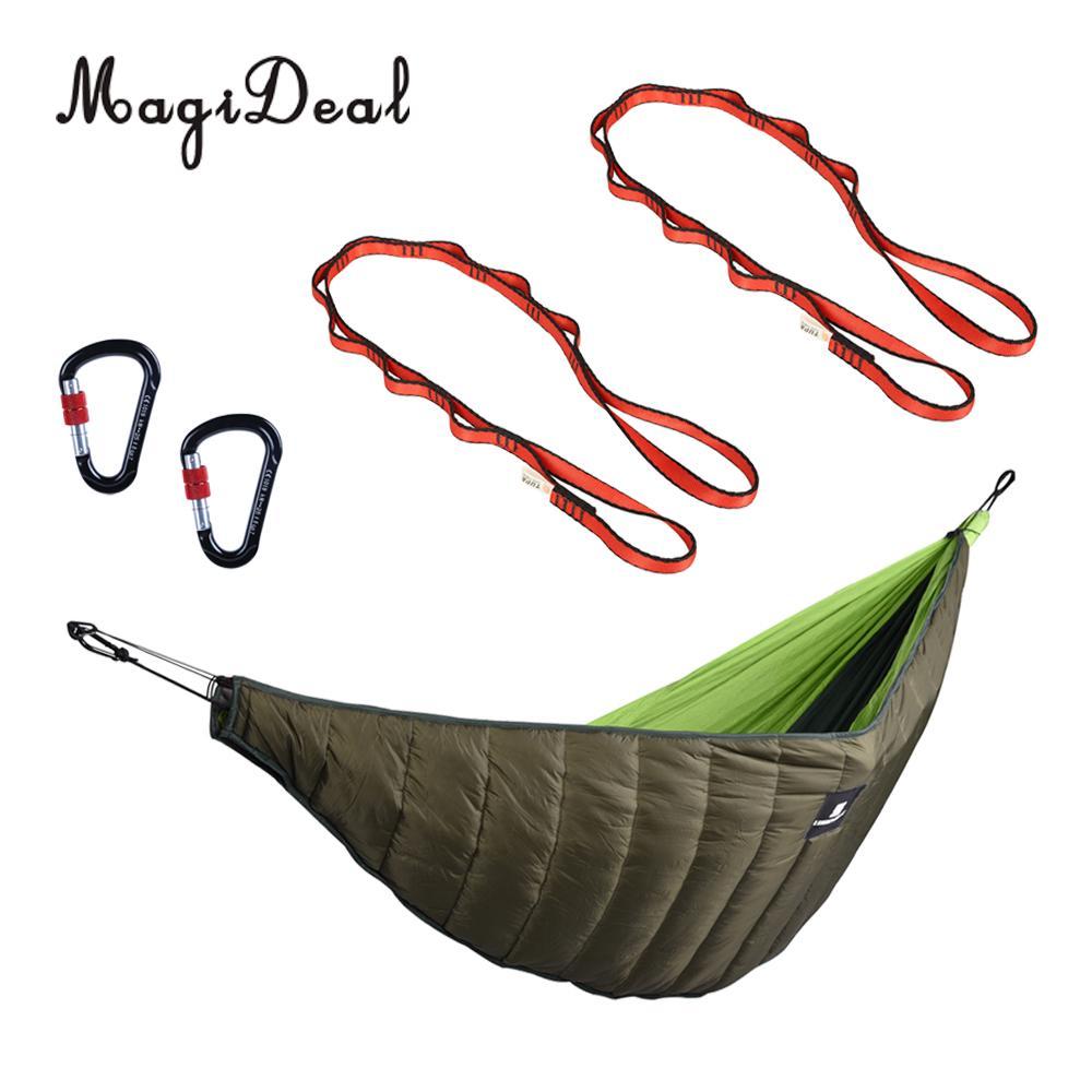 Sous-couette de Camping léger de haute qualité avec 2 crochets à ressort + 2 sangles de hamac 150cm équipement de couchage