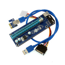 60 см PCI-E PCI E Express 1x до 16x видеокарта Riser Extender адаптер VER006 для Bitcoin BTC Miner Machine WK01(China)