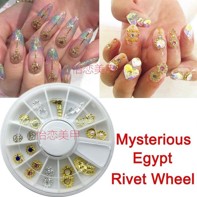 Nail Art Sticker Gold Retro Egypt Alloy 3d Nail Sticker Decal Tips