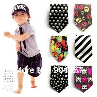 Baby Toddler Boy Necktie Tie Infants Skinny tie Dye Stripe ...