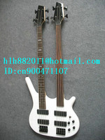 free shipping double neck 27 fret electric bass guitar with rosewood fingerboard +foam box