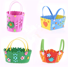 EVA DIY Bags Cute Flower Style Bag Handmade Crafts Cartoon Sewing Backpacks Kids Children Creative Toys Boys Girls Braid Basket(China)