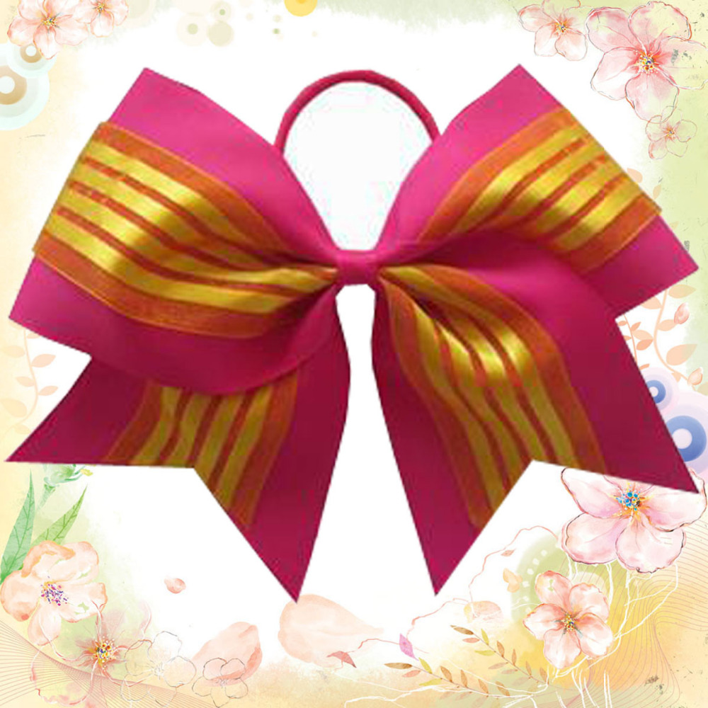 12 BLESSING Good Girl Hair Boutique Hair Bow 7 Cheer Leader Bow Elastic