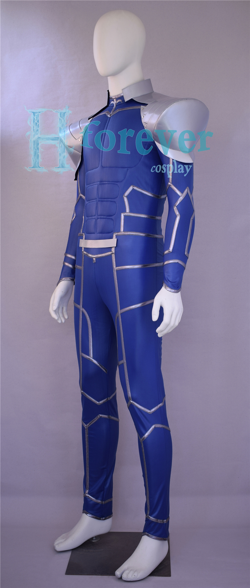 CAP Fate Stay night Extra Lancer Cu Chulainn Setanta Blue Costume Cospaly Wig