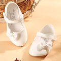 child's new girls shoes Korean princess shoes student bows in a generation of white shoes