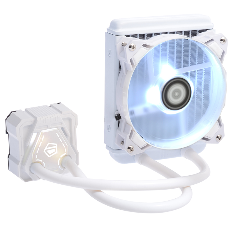 ID-COOLING ICEKIMO 120G / W 240WCPU Water Cooled Radiator White / Black Light AM4