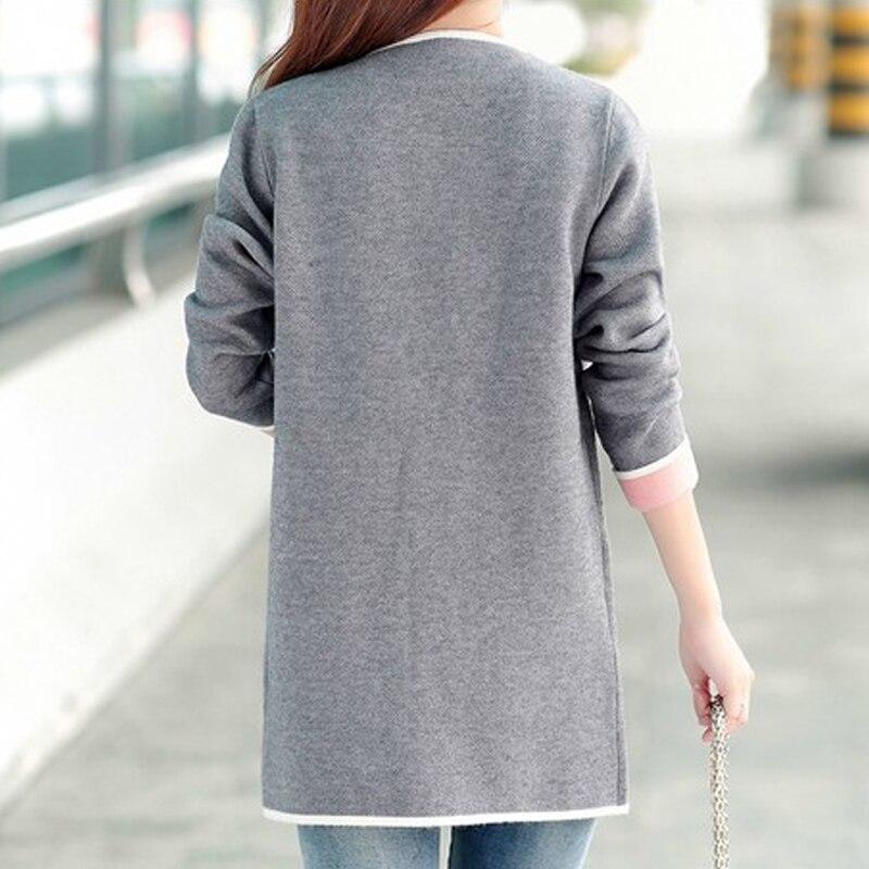 5XL Autumn Winter Jacket Women Coats 2019 Plus Size Knitted Cardigan Jackets Female Outerwear Casual Pocket Coat Jaqueta Mujer 4