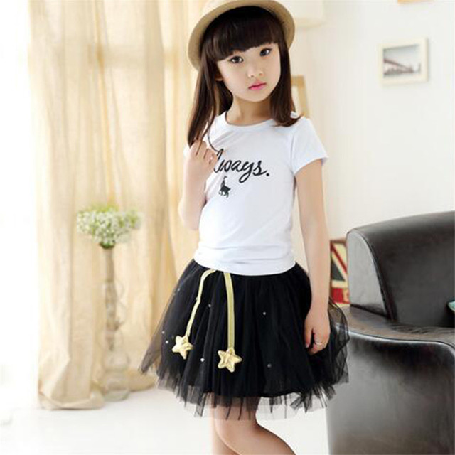 Girls Princess Party Skirt Lace Cotton Pearsl Clothing