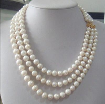 63e2c232adef8 HOT SALE] 9 10mm freshwater pearl sweater chain light necklace long ...