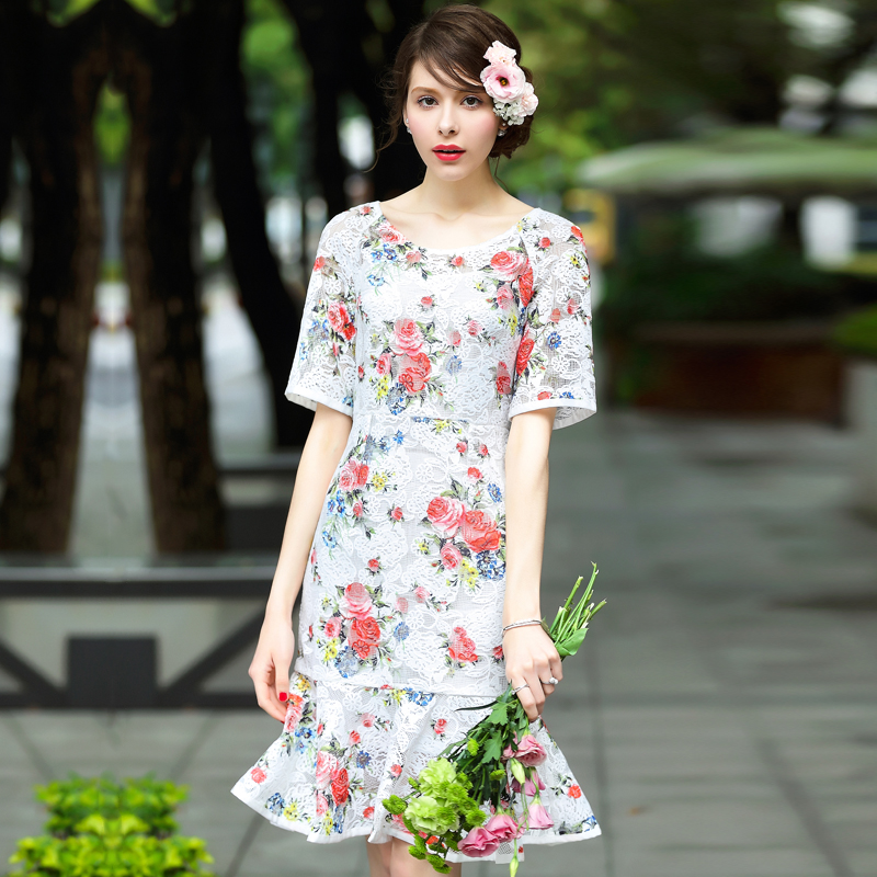 Popular fish style dresses buy cheap fish style dresses for Fish print dress