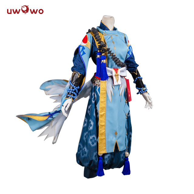 AScosing Abeno Seimei Cosplay Game Onmyoji Satin Kimono White Blue Costume  Full Set Onmyoji Cosplay Abeno