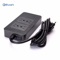 Ollivan 1 8M Power Cord 4 USB Ports 4 Outlet Wall Socket Charger Power Strip Travel