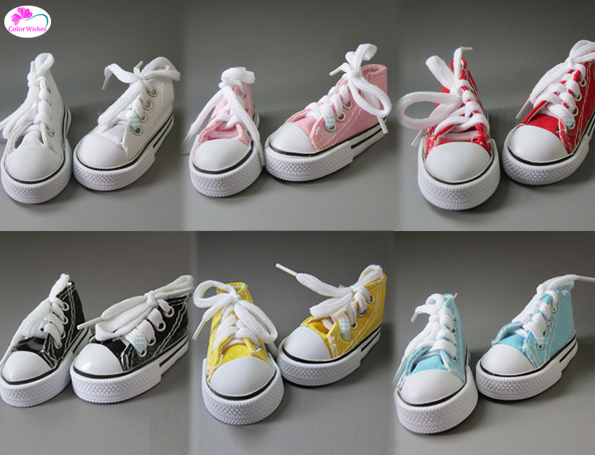 7.5cm Fashionable canvas shoes For dolls 1/4 BJD Doll &16 Inch Sharon Things for dolls rovertime rovertime rtm 85