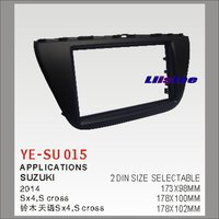 Liislee 2 DIN Plastic Frame Radio Fascia For Suzuki SX4 S cross 2014~2016 Auto Stereo Interface Dash CD Trim Installation Kits