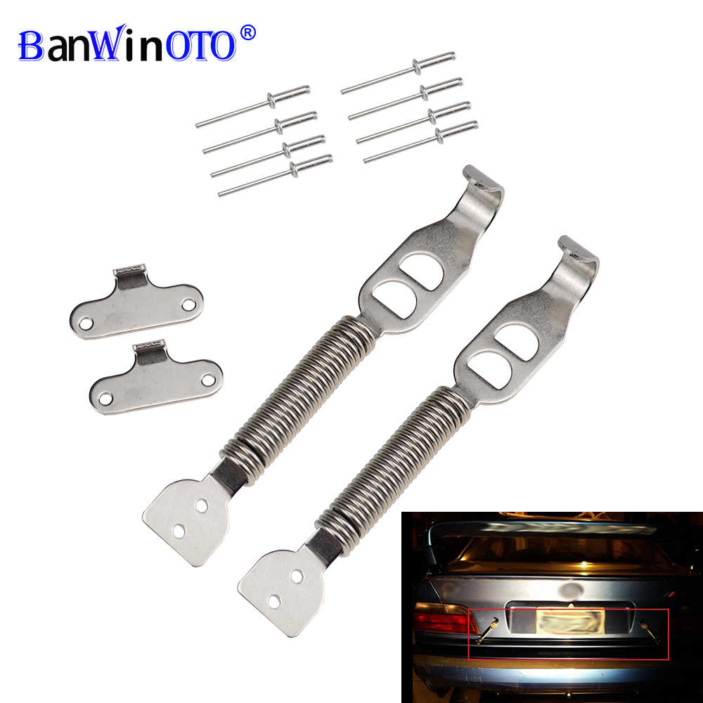 Sdkmah9 Spring Pin Kit 1pair Panel Alloy Styling Boot Bonnet Car Racing Security Universal Multipurpose Tunning Clips Hood Lock Rally