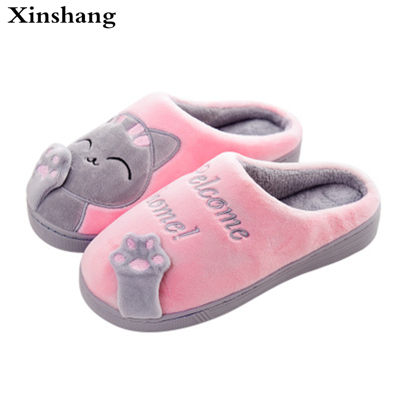 Warm Cat Winter Shoes Women Home Slippers Comfort Home