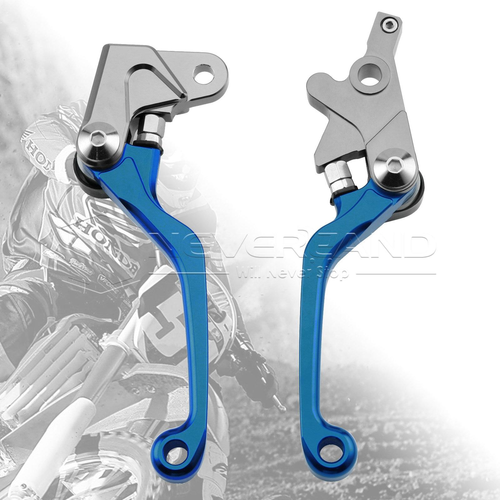 One Pair CNC Pivot Brake Clutch Levers For Honda XR250/MOTARD 95-07 XR400MOTARD 05-08 CRM250R/AR 94-98 L01K/R05K Blue D10 cnc dirt bike flex pivot brake clutch levers for honda crm250r ar xr250 400 motard