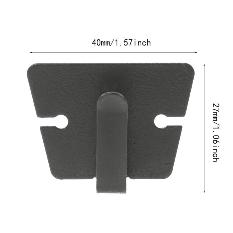 Portatile Altoparlante Mic Microfono Riagganciare Clip Da Cintura Per ICOM IC-2720H IC-2820H Kenwood TM241 TM231 QYT KT8900 8900