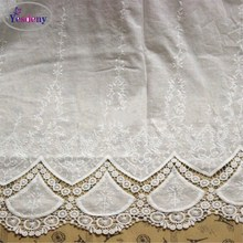 1Yard Delicate Off White Lace Fabric Skirt Cotton Cloth Embroidery Fabric Width 125cm DIY Fabric Clothing Accessories YN079