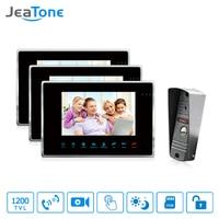 JeaTone 7 TFT HD Video Doorbell Camera Intercom System IP65 Waterproof Quality 3 Indoor Monitors